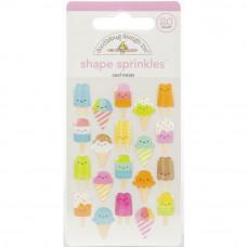 Doodlebug Sprinkles Adhesive Glossy Enamel Shapes, Cool Treats