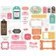 Echo Park I Heart Crafting  Cardstock Ephemera 33/Pkg
