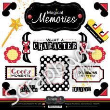 Scrapbook Customs Magical Memories 12x12 Sticker Sheet