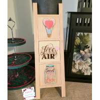 "Farmhouse Ladder-""Love is in the Air""-Interchangeable tiles, no base included"