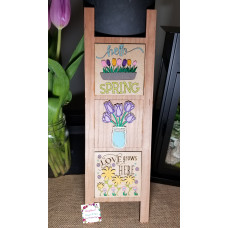 "Farmhouse Ladder-""Spring""-Interchangeable tiles, no base included"