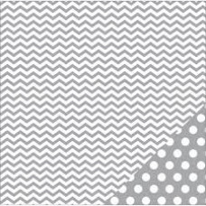 American Crafts Grey Chevron 12x12 paper