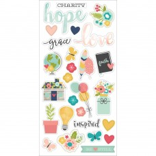 "Simple Stories Faith Chipboard Stickers 6""X12"""