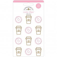 Doodlebug Cute Clips, Cream and Sugar, Coffee Shop