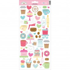 Doodlebug-Cream And Sugar Cardstock Stickers: Icons