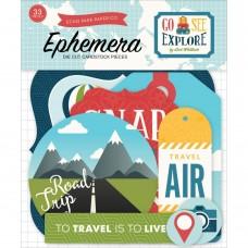 Echo Park Go, See, Explore Ephemera Cardstock Die-Cuts