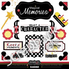 Scrapbook Customs Magical Memories 12x12 Sticker Sheet