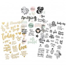 "Simple Stories, Beautiful Stickers 4""X6"" 3/Pkg"
