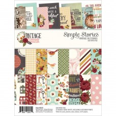 "Simple Stories, Vintage Blessings Double-Sided Paper Pad 6""X8"" 24/Pkg"