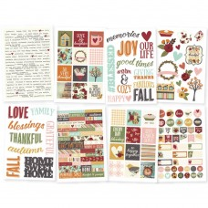 "Simple Stories, Vintage Blessings Clear Stickers 4""X6"" 8/Pkg"