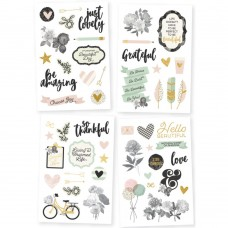 "Simple Stories, Beautiful Stickers 4""X6"" 4/Pkg"