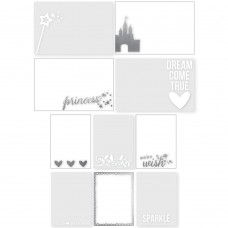 "Enchanted Photo Overlays 10/Pkg (4) 4""X6"" & (6) 3""X4"", Silver & Color"